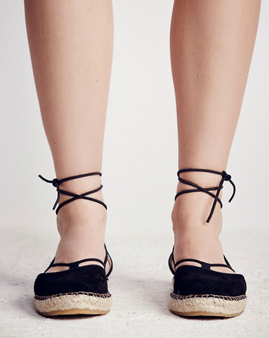 Marina Lace Up Espadrille by Free People - FINAL SALE