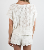 White Noise Knitted Short by Minkpink - FINAL SALE