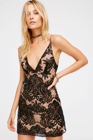 Night Shimmers Mini Dress by Free People - FINAL SALE