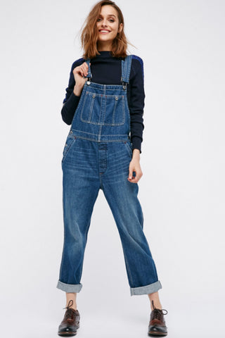 Boyfriend Overall by Free People - FINAL SALE