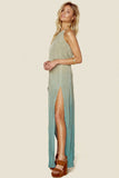 2 Slit Halter Maxi Dress by Blue Life - FINAL SALE