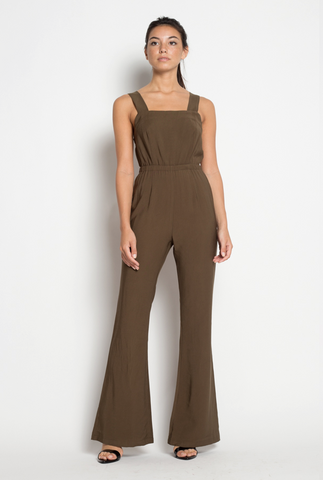 Taking Flare Of Business Jumpsuit