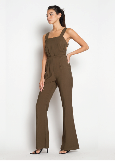 Taking Flare Of Business Jumpsuit - FINAL SALE