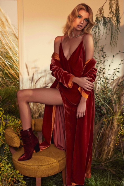 Nadine Velvet Maxi Dress by For Love & Lemons