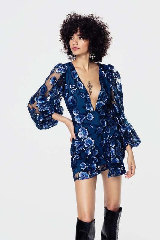 Victoria Embroidered Mini Dress by For Love & Lemons