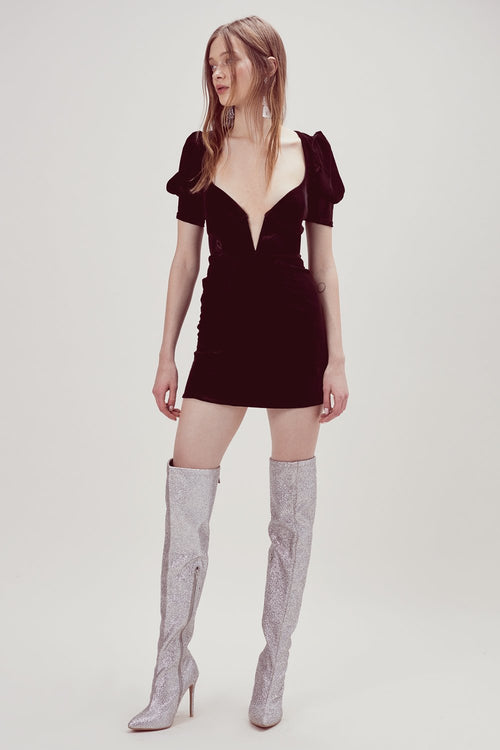 Viva Deep V Mini Dress by For Love & Lemons