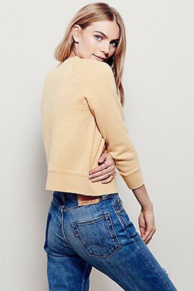 Vintage Crop Pullover by Free People - FINAL SALE