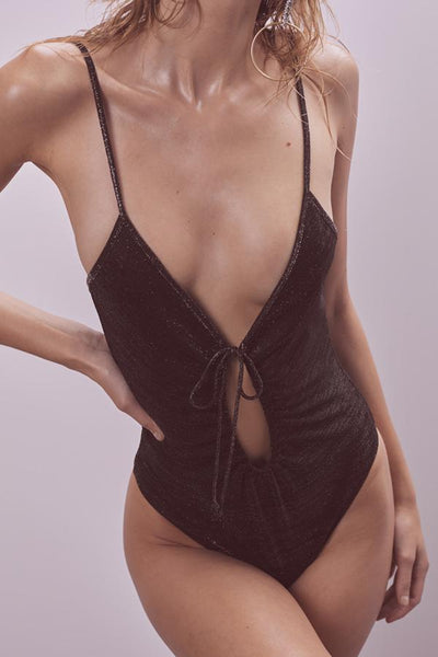 Baccarat Glitter Knit Bodysuit by For Love & Lemons - FINAL SALE