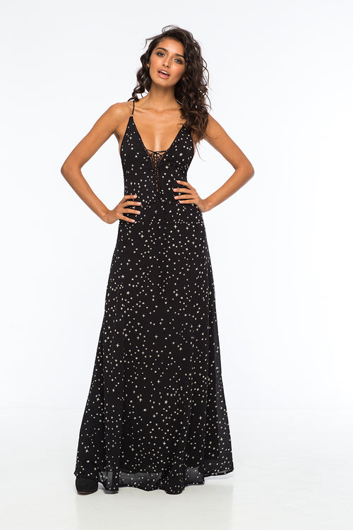 Poet Studded Maxi Dress by Indah - FINAL SALE