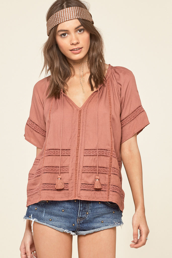 Ocean Vista Top in Pink. - size L (also in M,S,XS) Amuse Society