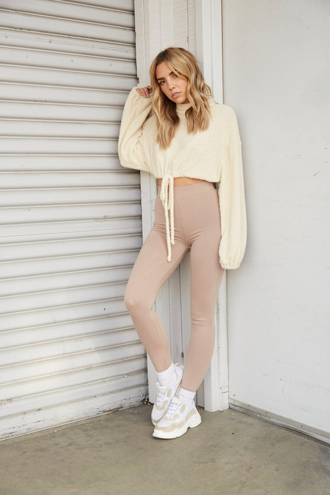 Booked & Busy Crop Sweater