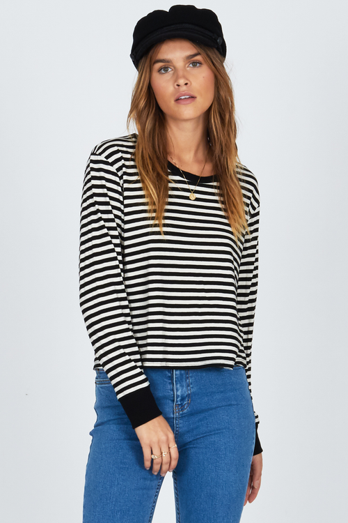 Honey Stripe Long Sleeve by Amuse Society