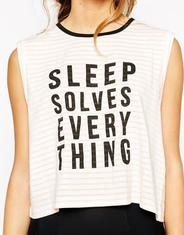 Sleep Solves Tee by Minkpink - FINAL SALE