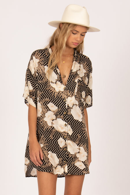 Jungle Babe Woven Top by Amuse Society