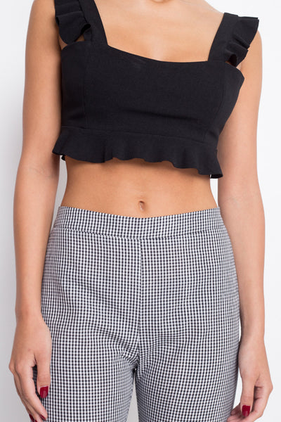 Ruffle Around The Edges Crop Top - FINAL SALE