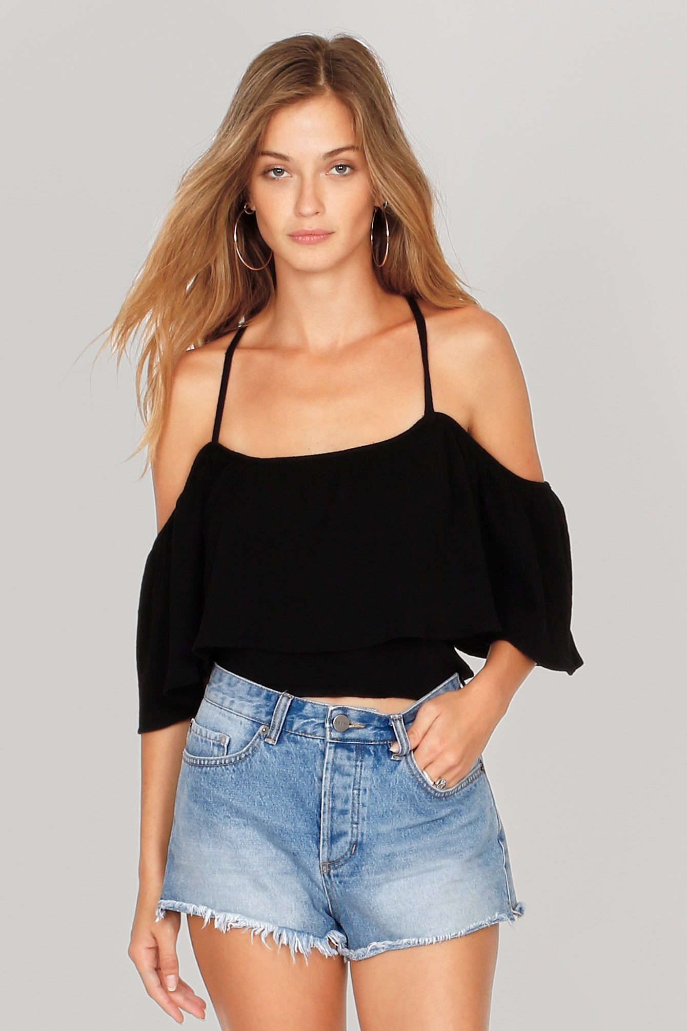 Life's A Frill Knit Top by Amuse Society - FINAL SALE