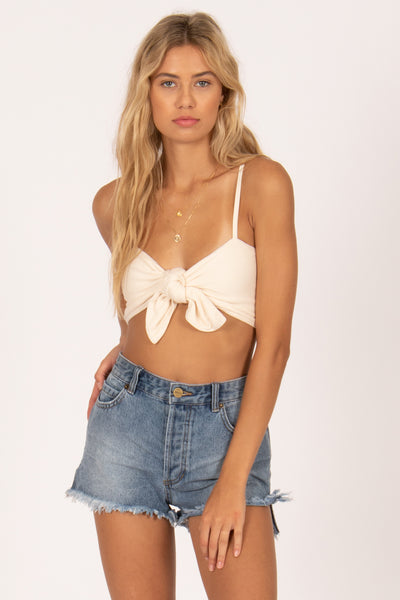 No Tan Lines Knit Top by Amuse Society