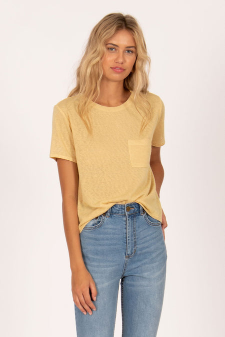 Beach Baby Woven Top by Amuse Society