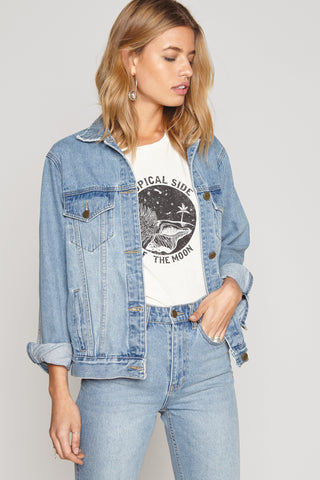 Outlands Denim Jacket by Amuse Society