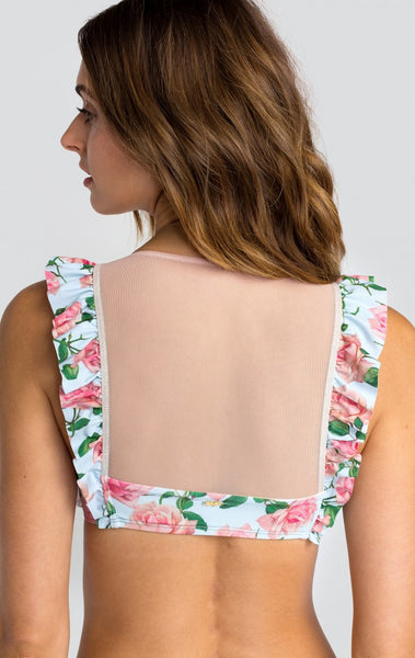 Dusty Rose Print Winona Top by Wildfox - FINAL SALE