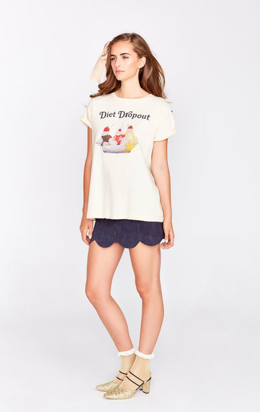 Diet Drop Out Heights Crew Tee by Wildfox - FINAL SALE