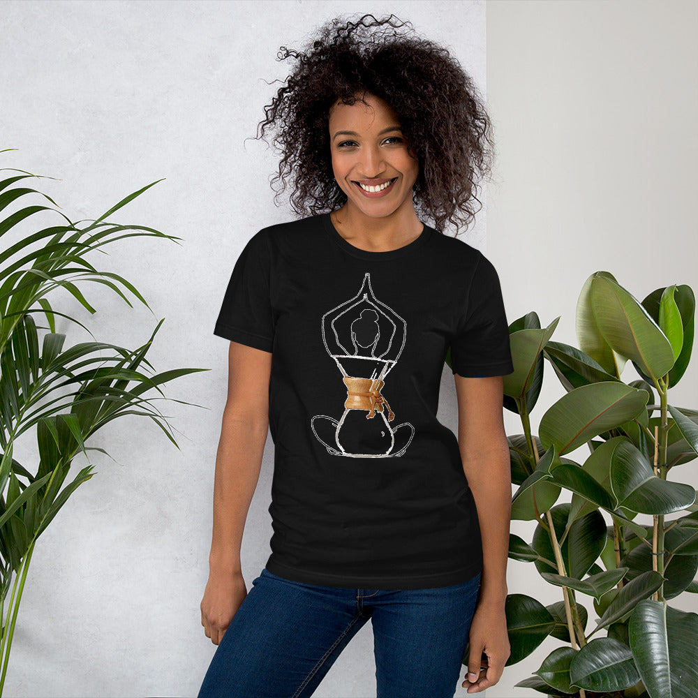 *Spiritual Pour Over* Short-Sleeve Unisex T-Shirt[product type] - Aroma Mocha Coffee, LLC of Avondale, Arizona