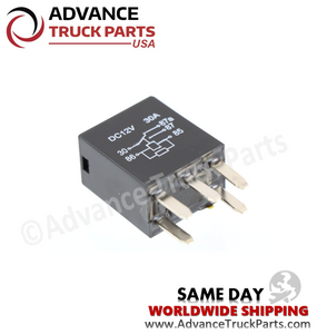 Advance Truck Parts ( Package of 2) 06-39201-001 Freightliner Mini Relay - 5 Pin