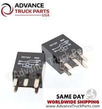 Load image into Gallery viewer, Advance Truck Parts ( Package of 2) 3011CCR1U0112VDC relay - 5 Pin