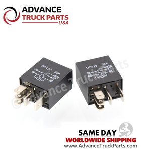 Advance Truck Parts ( 2 pcs) 06-39201-001 Freightliner Kenworth Navistar 5 Pin Relay