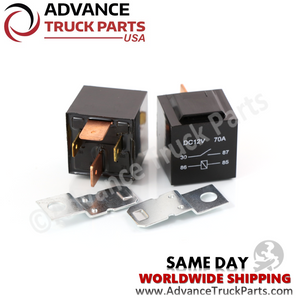 Advance Truck Parts 2 Pcs 12V (Volt) 4 Pin 70A (Amp) Heavy Duty Relay for Truck Bike Boat