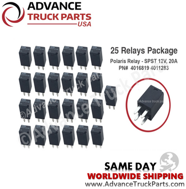 25 pcs Polaris Relay - SPST 12V, 20A Polaris PN#  4016819 4011283