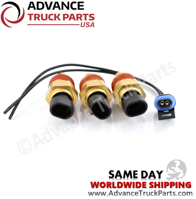 Advance Truck Parts Q21-1002 Peterbilt / Kenworth Differential Temperature Sender w/ Pigtail