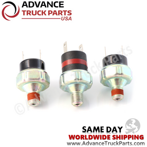 Advance Truck Parts Air Pressure Switch kit for Freightliner FSC 1749-2134 1749-1907