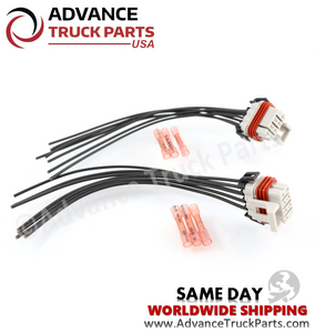 Advance Truck Parts Headlight Harness Pigtail for Freightliner (2 pcs)