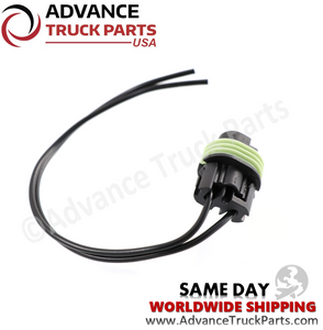 Advance Truck Parts W094103 Pigtail Connector 2 Pin for Pressure Switch