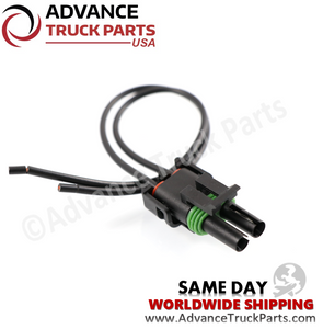 Advance Truck Parts W094116 Pigtail Connector 2 Pin