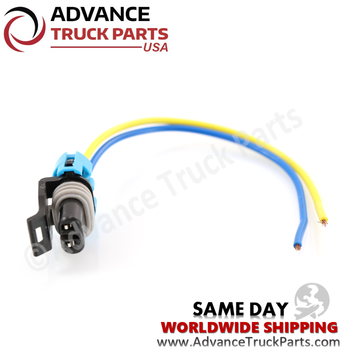 Advance Truck Parts W094119 Pigtail Connector 2 Pin