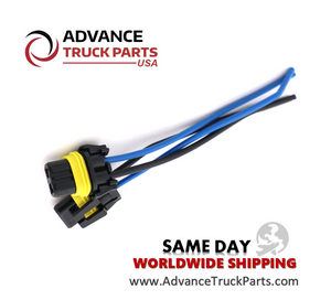 Advance Truck Parts Harness Connector Pigtail for Fog-Head lights 9005 2pcs
