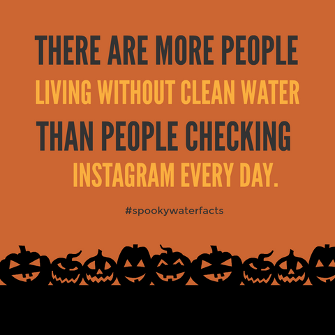 there are more people without water than checking instagram