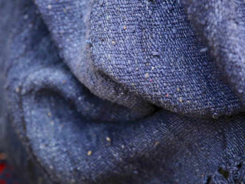 One-of-a-kind Indigo Handspun & Handwoven Peace Silk Wrap