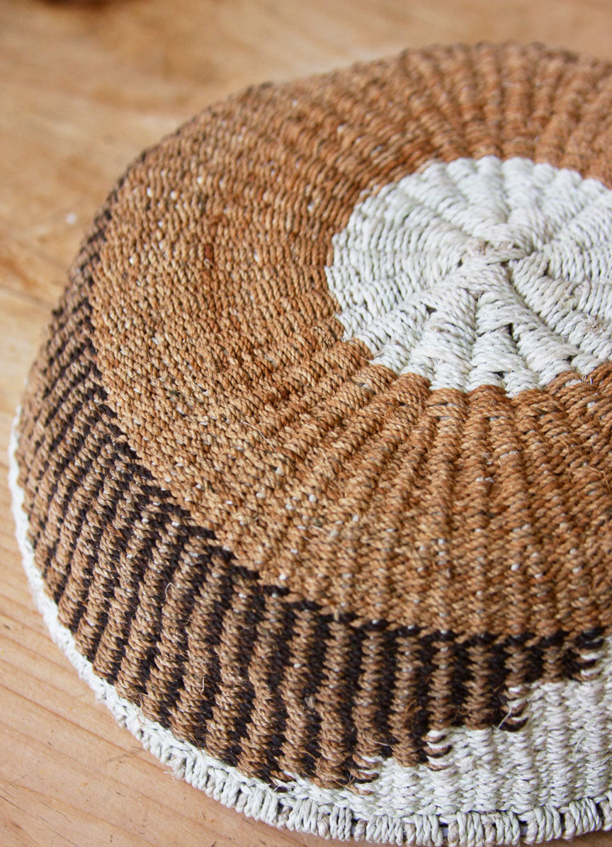Chaguar Art Basket - One of a Kind - Natural Browns
