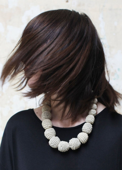Chaguar Ball Necklace - Natural - WAITING LIST!