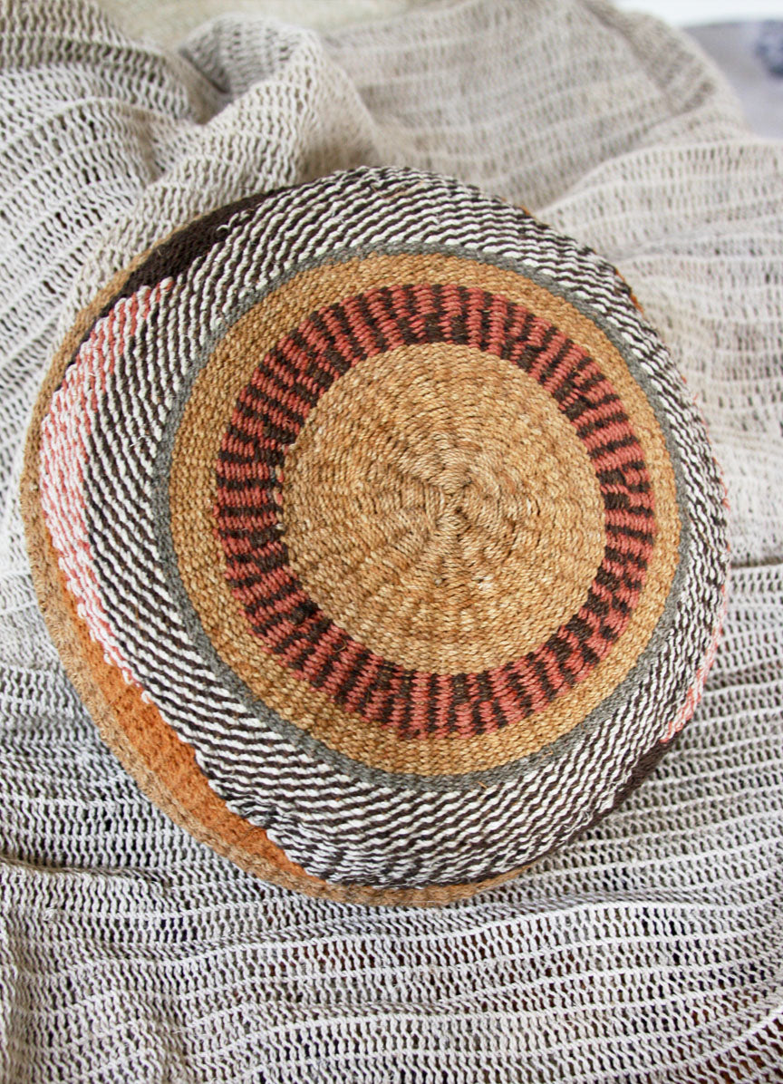 Chaguar Art Basket - One of a Kind - Natural Reds & Browns - SOLD