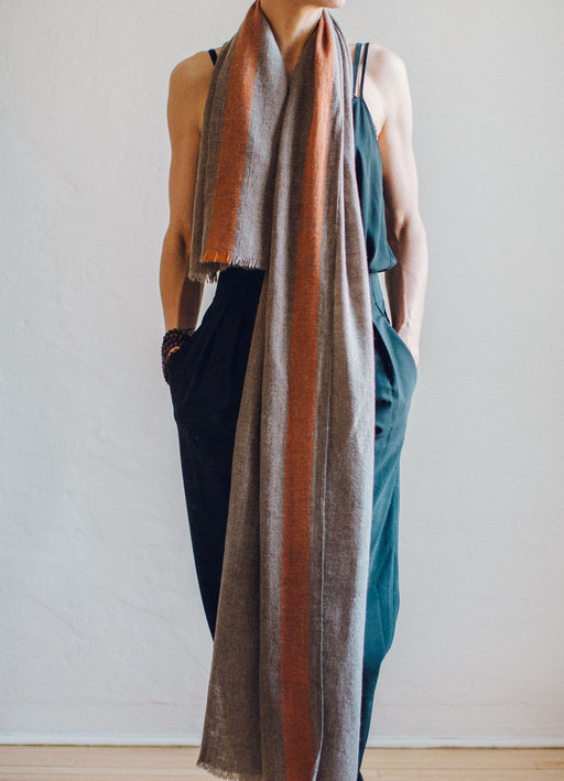 Dashuri Yak Wrap Striped - Handspun & Handwoven