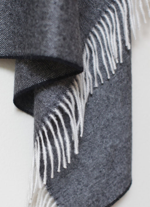 Herringbone Alpaca Blanket - Charcoal - SOLD OUT