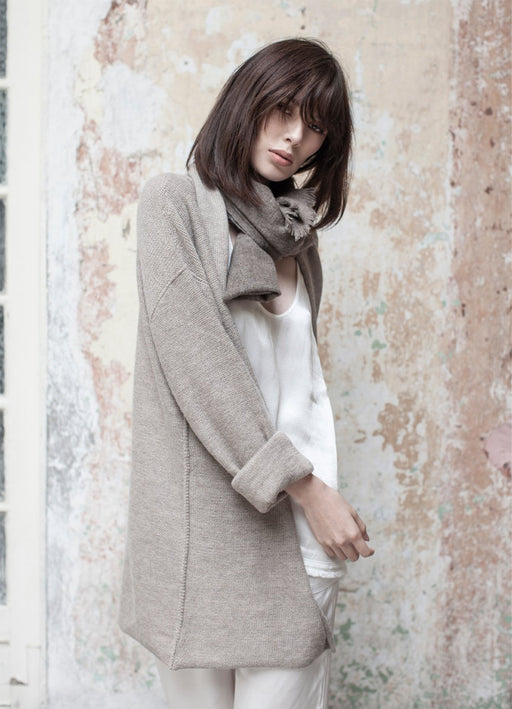 Oversized Coed Cardigan - Millet - LAST ONE