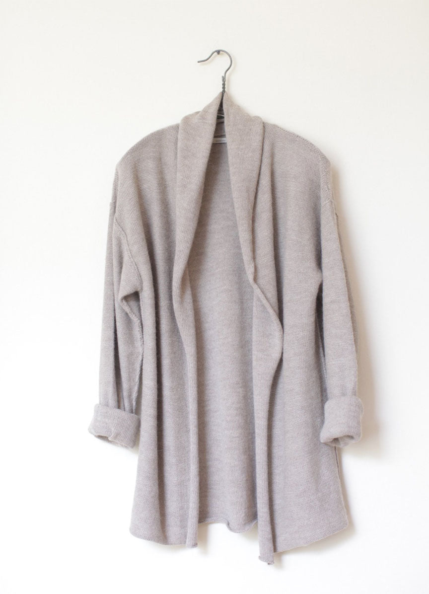 Oversized Coed Cardigan - Millet - SOLD OUT