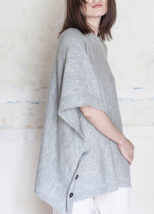 The Alpaca Poncho - Grey