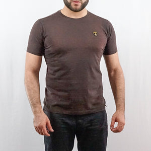 LAMBORGHINI T-SHIRT SHIELD SEALBROWN