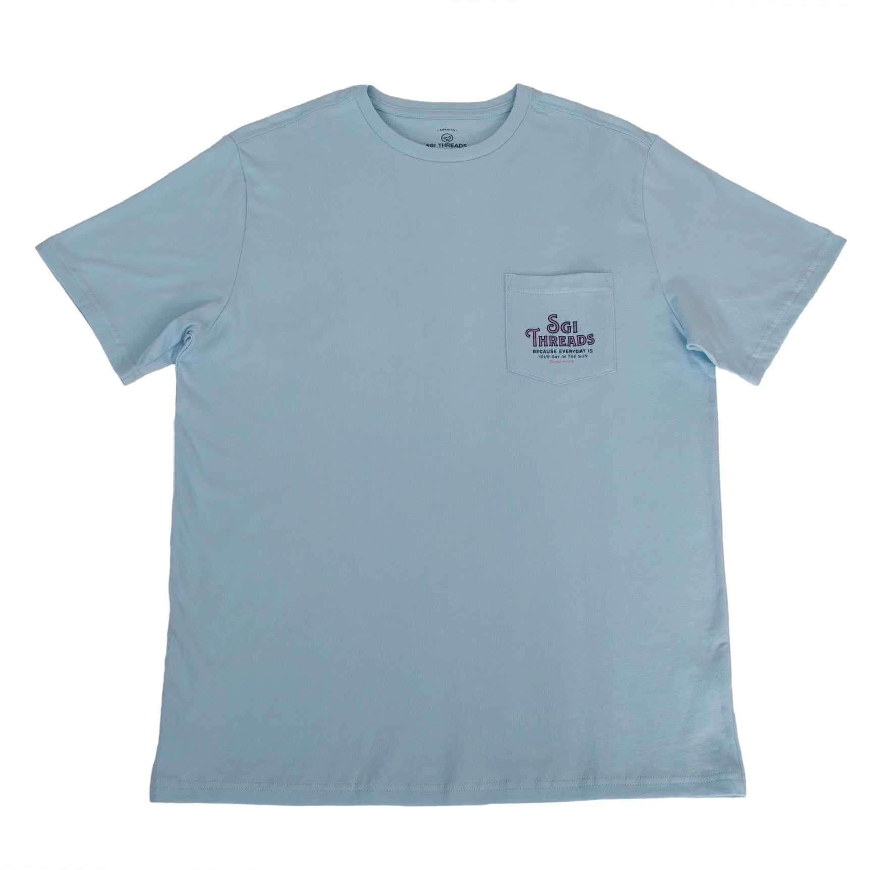 ISLAND LIFE SHORT-SLEEVE TEE LIGHT BLUE
